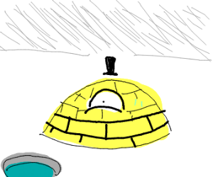 bill cipher is cold and became an igloo