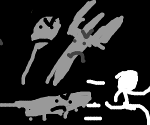 Silverware attacking a human