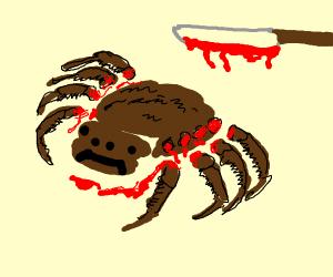 Giant tarantula's legs chopped off