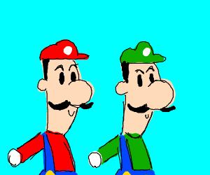 Red Luigi is #1, Luigi #2