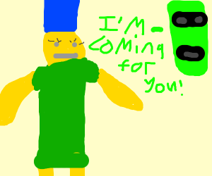 dat alien is comeing for dat roblox marge