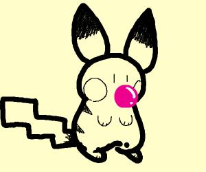 Pokemon eating Gum