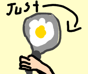 just  an egg on a pan