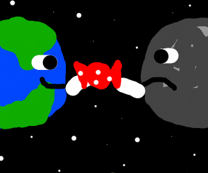 Earth steals candy from the moon