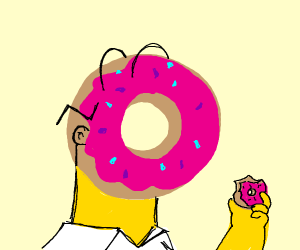 Homer has pastry for a head