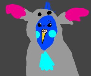 Stitch as a cockatiel
