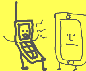 Flip Phone complains to Smart Phone