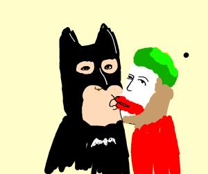 Batman and Joker kiss and make up