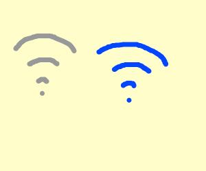 WLAN symbol full and empty