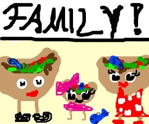 taco family (with dead fish inside them)