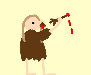 Caveman Eats Arm