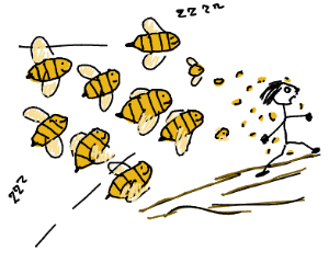 The bees get their revenge