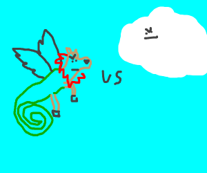 Deer lizard eagle lion unicorn vs. a cloud