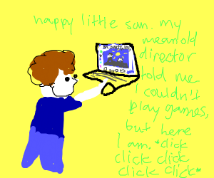 Bob Ross is playing Drawception