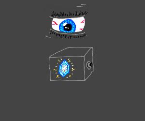 ice stone in secure lock/ blue eye