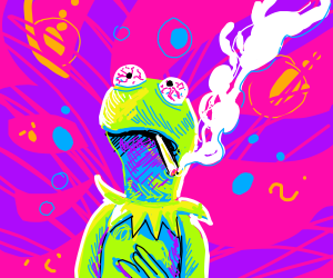 kermit gets high