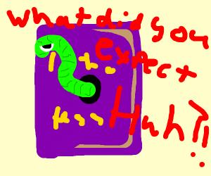 Literal book worm