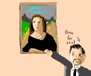 the Mona Lisa by Leonardo DiCaprio