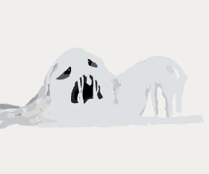 greyscale blob is in horrific agony
