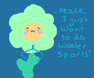 flower begs for watersports