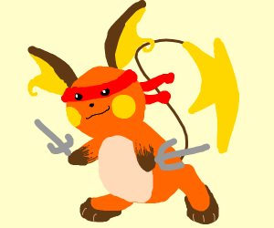 Riachu is now the red ninja turtle