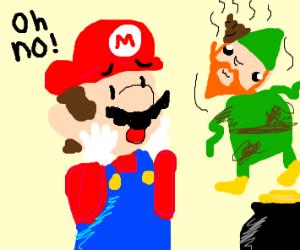 Mario meets dirty leprechaun