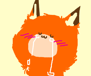 Sad kawaii fox
