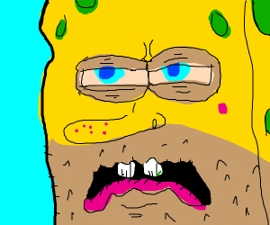 Spongebob with horrifying face