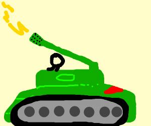 stickman drives tank