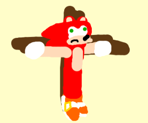 red sonic being jesus