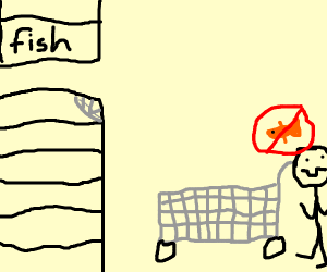 store is sold out of fish