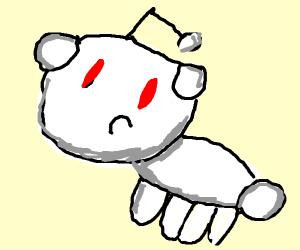 Reddit snoo as a bunny