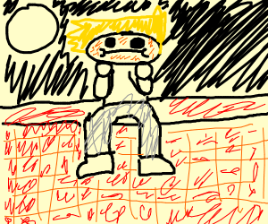 Sad Donald Trumpty Dumpty sitting on wall