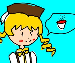 Yellow fellow wants tomato soup