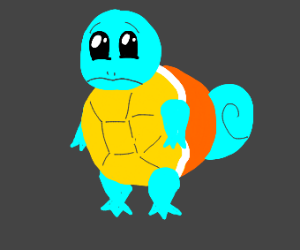 sad squirtle