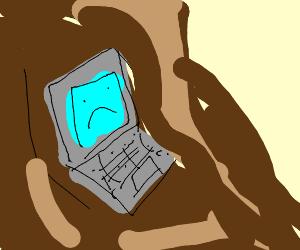 Laptop in a Mudslide