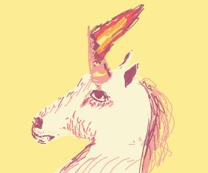 Unicorn's horn burns off