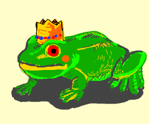 Oh no, the king has turned into a frog!