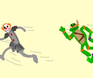 Pennywise meets the Ninja Turtles