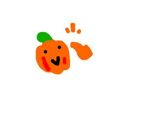 "Happy pumpkin ""thumbs up"""
