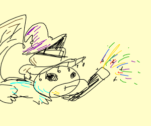 perry the platypus as witch casts spell