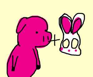 Pig with a Mask