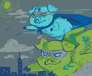 Flying Pig Superheroes