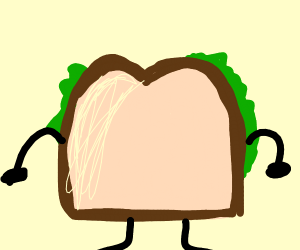 Sandwich with arms