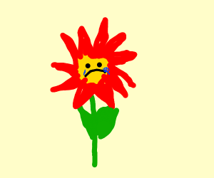 Sad flower(oof my man)