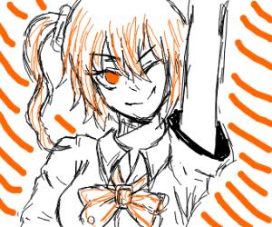 Orange anime girl