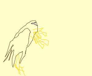 eagle vomiting fries