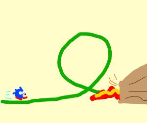 A Sonic Level involving a volcano