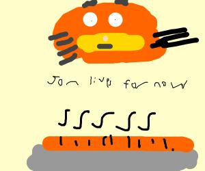 Garfield finds lasagna