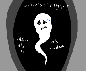 ghost thats scared of dark